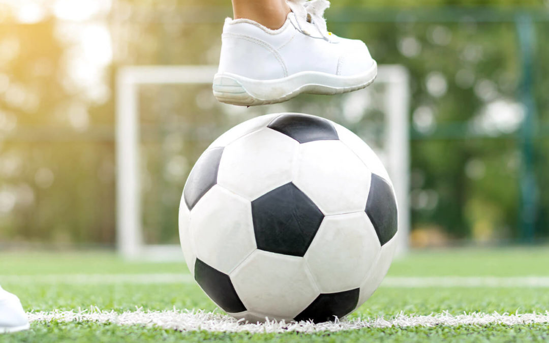 Schoolvoetbal in juni